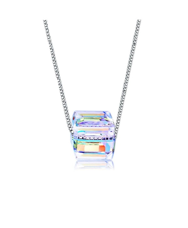 Austria Swarovski Crystal Necklace Sterling - A Necklace Square Swarvoski A2 - CD187DK4YUY