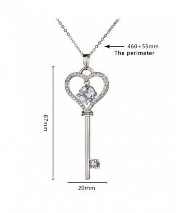 SCIONE Round Crystal Pendant Necklace in Women's Pendants