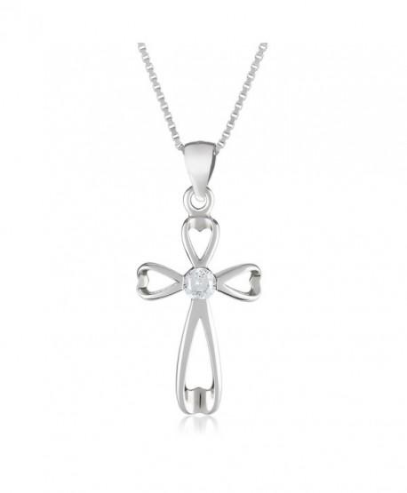 Silver Cross Womens Necklace - Infinity Holy Jesus Pendant Jewelry for Girls- Teens- Women - C712ODND6ZW
