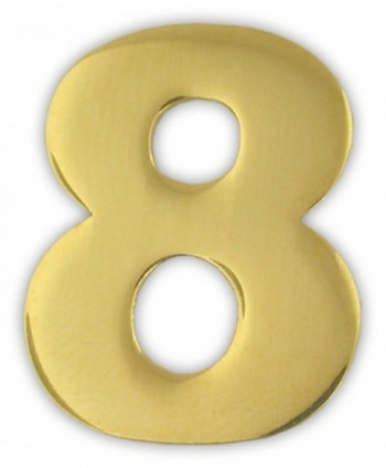 PinMart's Gold Numerical Number Eight 8 Lapel Pin - CR119PEL431