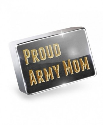 Floating Charm Proud Army Mom Fits Glass Lockets- Neonblond - CX11HL6DLOP