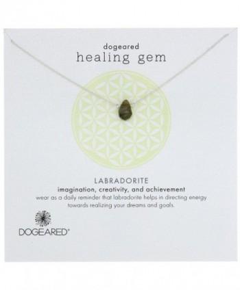 Dogeared Lasting Healing Gems Labradorite Pendant Necklace - silver - CD11IZCC5JB