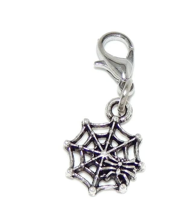 """Pro Jewelry Dangling """"Spider on a Spider Web"""" Clip-on Bead for Charm Bracelet 43446 - CZ11Q7TBD7J"""
