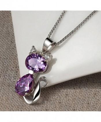 DreamsEden Amethyst Pendant Necklace Greeting