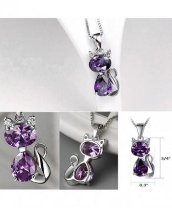 DreamsEden Amethyst Pendant Necklace Greeting in Women's Pendants