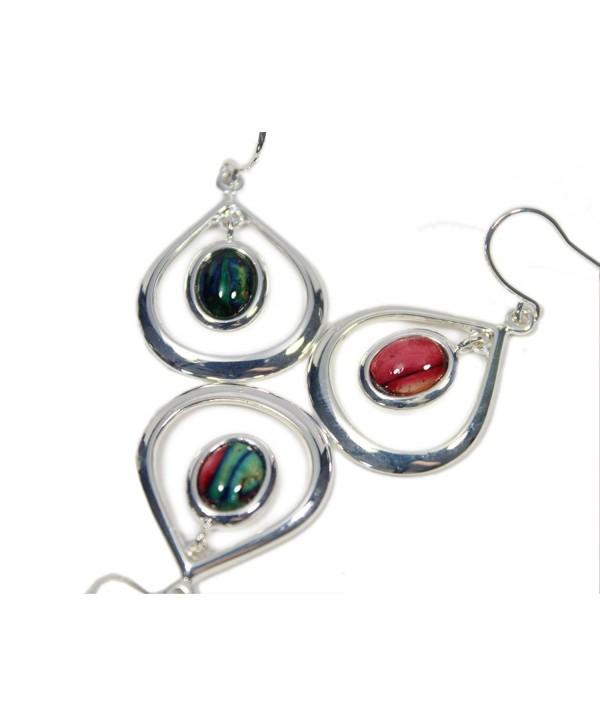 Heathergems Open Teardrop Earrings Silver Plated - C812FUP6ESD