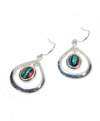 Heathergems Teardrop Earrings Silver Plated