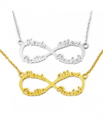 Personalized Infinity Necklace Custom Family in Women's Chain Necklaces