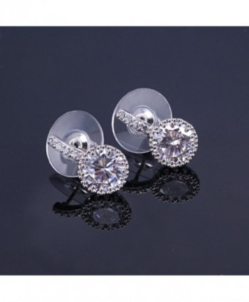 Cubic Zirconia Earrings White Gold Plated
