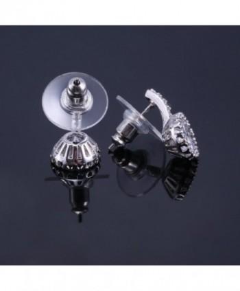 Cubic Zirconia Earrings White Gold Plated in Women's Stud Earrings