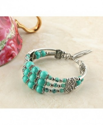 Feathers Pendant Bracelet Tibetan Turquoise