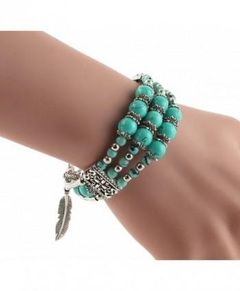 Feathers Pendant Bracelet Tibetan Turquoise in Women's Bangle Bracelets