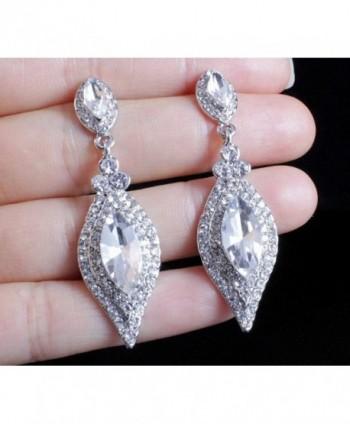 Janefashions AUSTRIAN RHINESTONE CHANDELIER EARRINGS in Women's Drop & Dangle Earrings