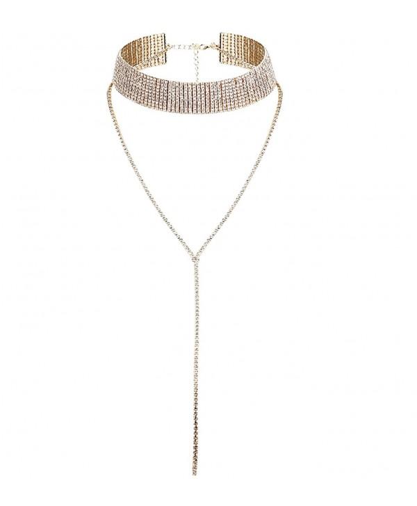 Jstyle 1-2 Pcs a Set Womens Choker Necklaces Girls Pendant Chain Adjustable - CF17Z6I74Z3