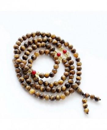 Tiger Buddhist Prayer Meditation Necklace