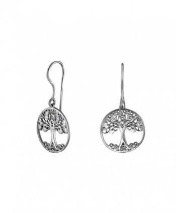 Handmade 925 Sterling Silver Celtic Tree Dangle Earrings - C617YYSKX8O