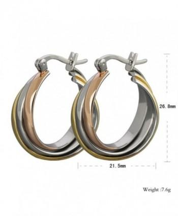 AMDXD Titanium Stainless Earrings Three colour