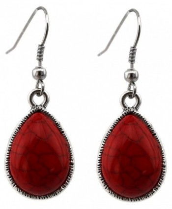 Teardrop Cabochon Necklace Matching Earrings in Women's Y-Necklaces