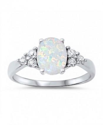 White Australian Opal & White CZ Ring - C911COZISVJ