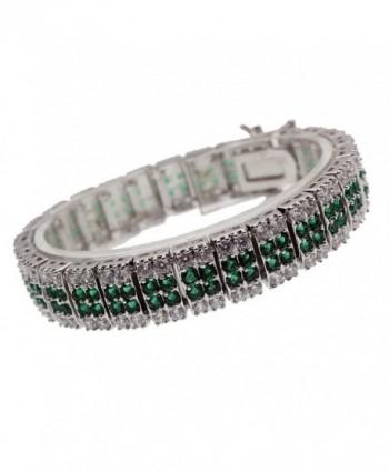 Women Jewelry Bracelets Christmas Gift Gemstone Ruby Peridot Onyx White Topaz 7 INCH - Green - C517YSLROGK