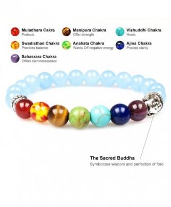 Bracelet PWMEN Chakra Healing Meditation in Women's Link Bracelets
