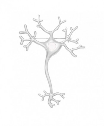 MANZHEN Science Jewelry Nerve Cell Brooch Pins Nerve Brooches - silver - C1185K64RZI