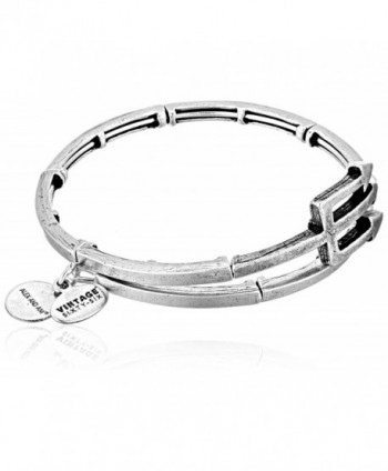 Alex and Ani Trident Metal Wrap Bangle Bracelet - Rafaelian Silver - C812EPJBC7D
