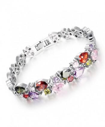 OPK Jewelry Titanium Steel Platinum Plated Women Bracelet Cubic Zirconia Diamond Luxury Jewelry - CY1237W8NTJ