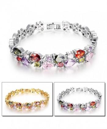 OPK Titanium Platinum Bracelet Zirconia