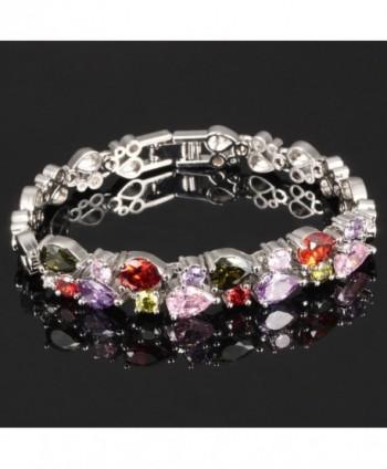 OPK Titanium Platinum Bracelet Zirconia in Women's Link Bracelets