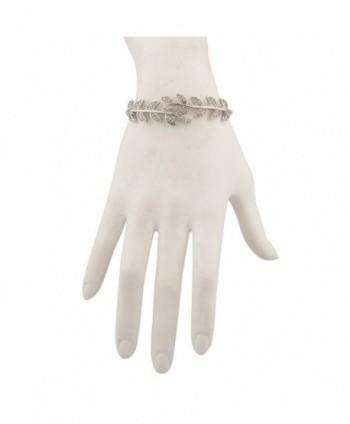 Lux Accessories Crystal Branch Bracelet