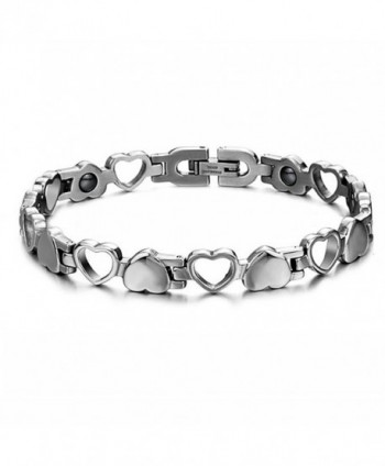 Titanium Steel Magnetic Therapy Link Bracelet Love Heart Health Care - CO12EEUKVAV