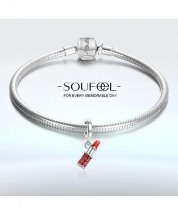 SOUFEEL Lipstick Swarovski Sterling Bracelets in Women's Charms & Charm Bracelets