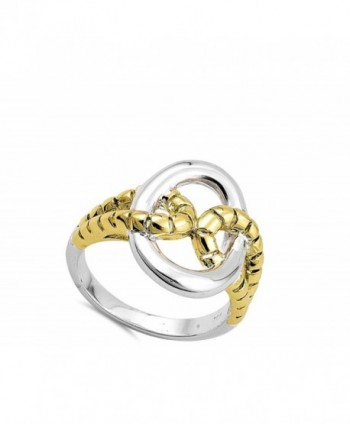 Gold Tone Polished Sterling Silver RNG16328 9