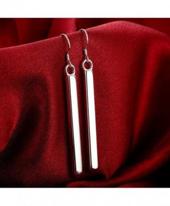 J Stylish Silver Rectangle Earrings Elegant in Women's Drop & Dangle Earrings