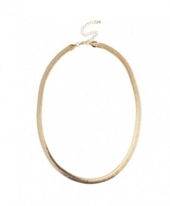 Lux Accessories Smooth Herringbone Necklace