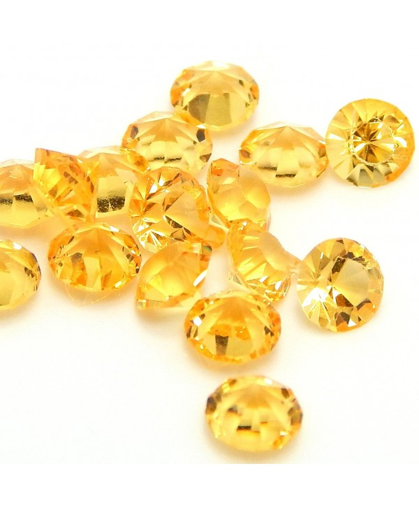 """Jewelry Monster Pack of Ten """"Topaz Yellow Birthstone Crystals"""" for Floating Charm Lockets 002 - CJ11UBF36C5"""