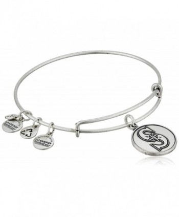 Alex and Ani Seattle Mariners Cap Logo Expandable Bangle Bracelet - Rafaelian Silver - C611JY3RMHP