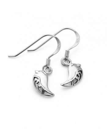 Sterling Silver Filigree Smiling Earrings