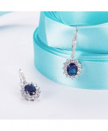 YAXING Sterling Snowflake Sapphire Leverback