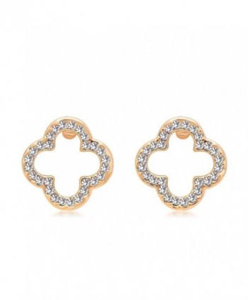 St Ushine Sterling Earrings earrings Champagne - Fashion earrings- Champagne gold with White - CA183YGW52S