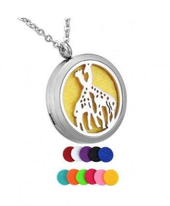 HooAMI Aromatherapy Essential Diffuser Necklace - Giraffe - CM17AZU0CX9
