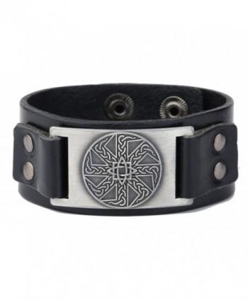 Wristband Adjustable Leather Bracelets Vintage - C5186KGRM42