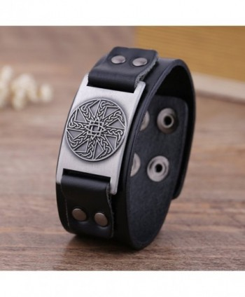 Wristband Adjustable Leather Bracelets Vintage in Women's Bangle Bracelets