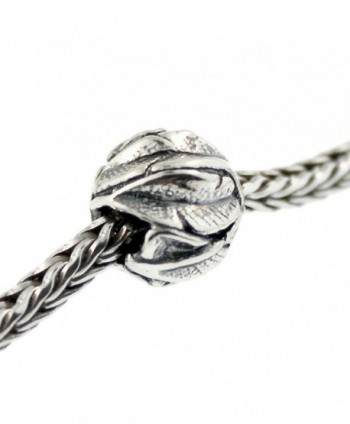 Authentic Trollbeads Sterling Silver 11337 Angel's Feathers- Silver - CB12JBUR5V3