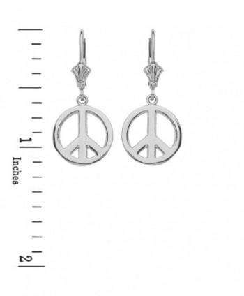 Leverback Symbol Earrings Polished Sterling