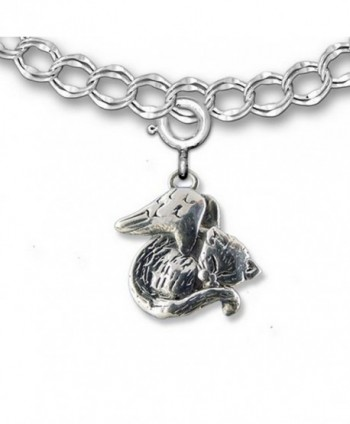 Sterling Silver Sleeping Cat Angel Charm for Charm Bracelet by The Magic Zoo - CW1196MV4RD