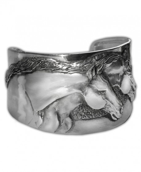Horse Lady Gifts Two Horse Cuff Bracelet - CD1822N50SS