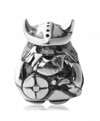 Hoobeads Viking Warrior Charms Authentic 925 Sterling Silver Bead Fits Europen Style Bracelets - Viking Warrior-2 - C1121IDWNXL