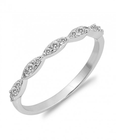CHOOSE YOUR COLOR Sterling Silver Wedding Stackable Ring - CS12NAEZ4GX